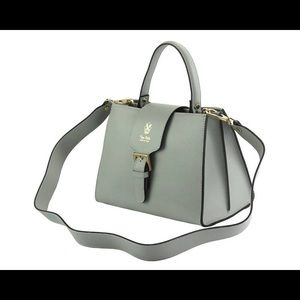 Handbags - MADE IN ITALY 🇮🇹GREY SAFFIANO LEATHER BAG.